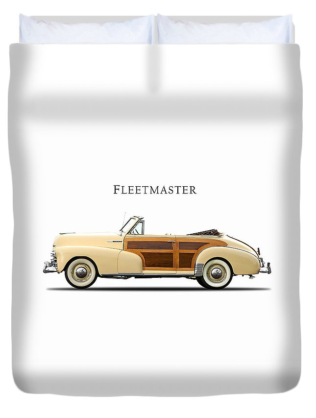 Chevrolet Duvet Cover featuring the photograph Chevrolet Fleetmaster 1947 by Mark Rogan