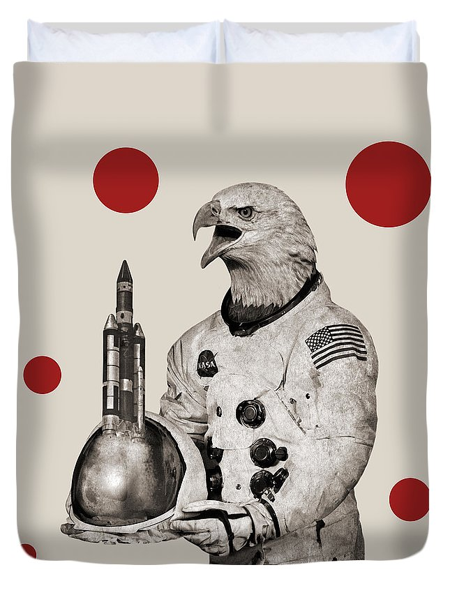 Cosmos Duvet Cover featuring the photograph Animal1 by Francois Brumas