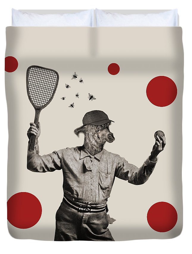 Tennis Duvet Cover featuring the photograph Animal5 by Francois Brumas