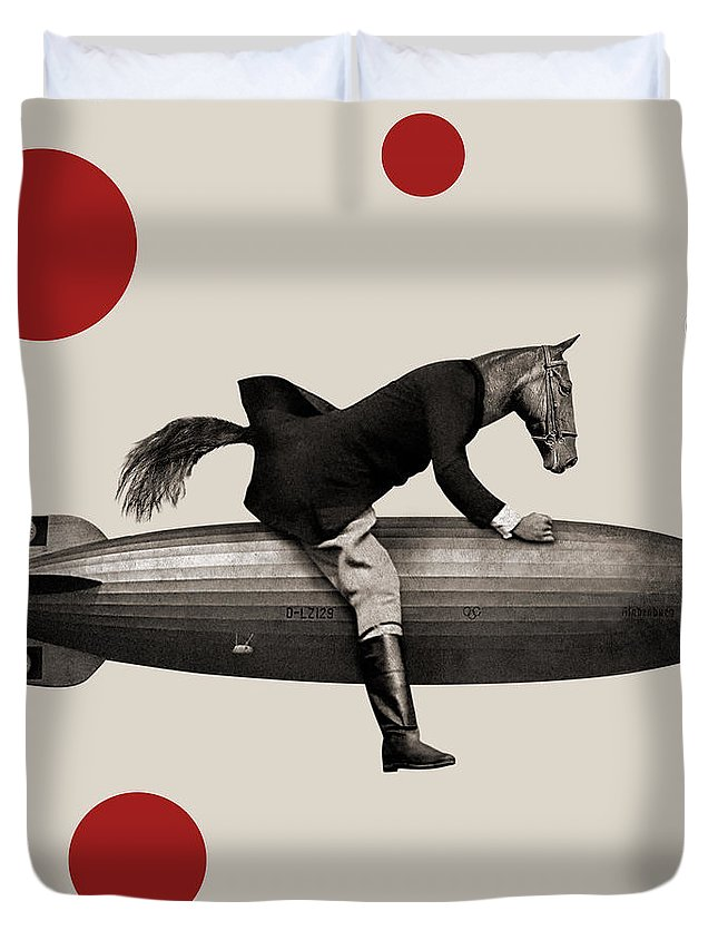 Horse Duvet Cover featuring the photograph Animal24 by Francois Brumas