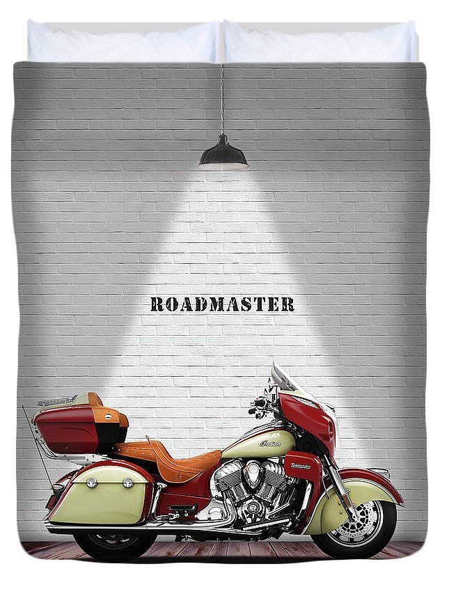 Indian Roadmaster Duvet Cover featuring the photograph The Roadmaster by Mark Rogan