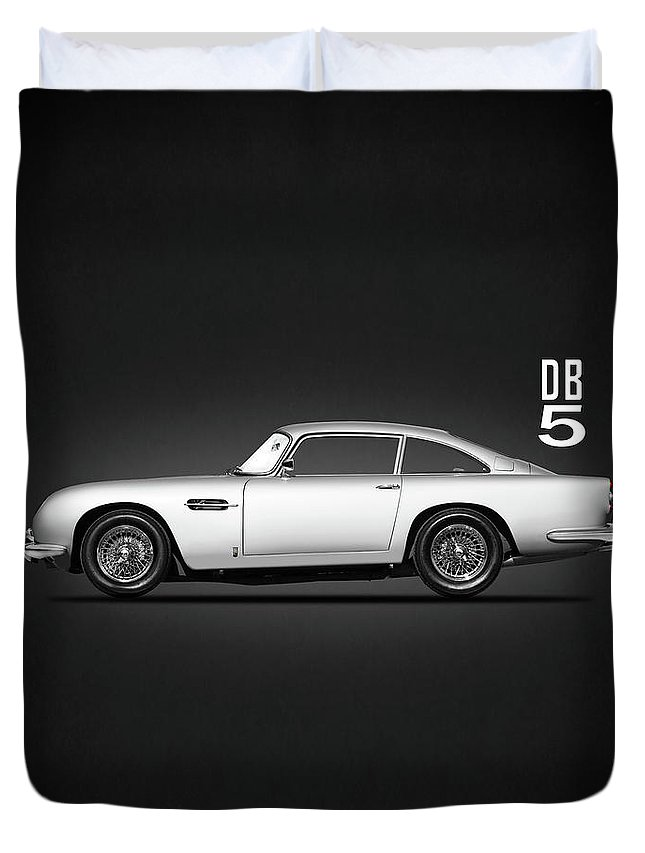 Aston Martin Db5 Duvet Cover featuring the photograph The Db5 by Mark Rogan