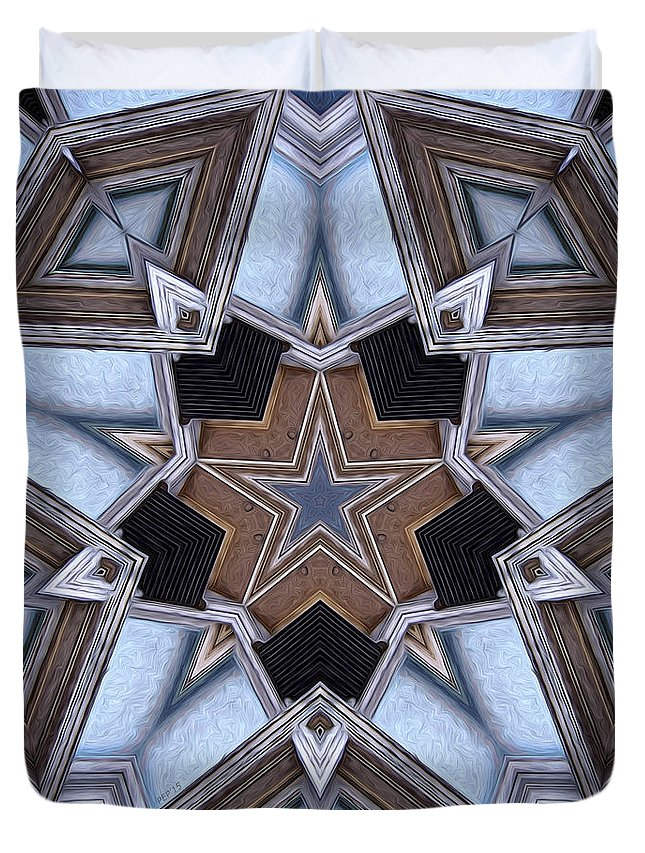 Star Duvet Cover featuring the digital art Building A Star by Phil Perkins