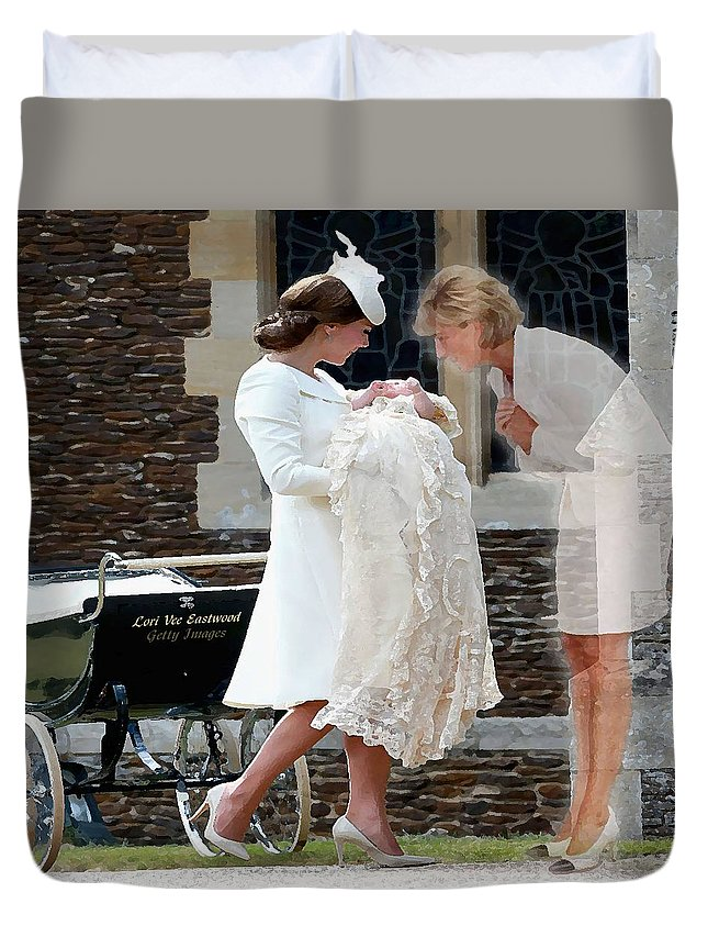 Princess Diana Duvet Cover featuring the painting Princess Diana - Viral Image by Lori Vee Eastwood Designs for Hope