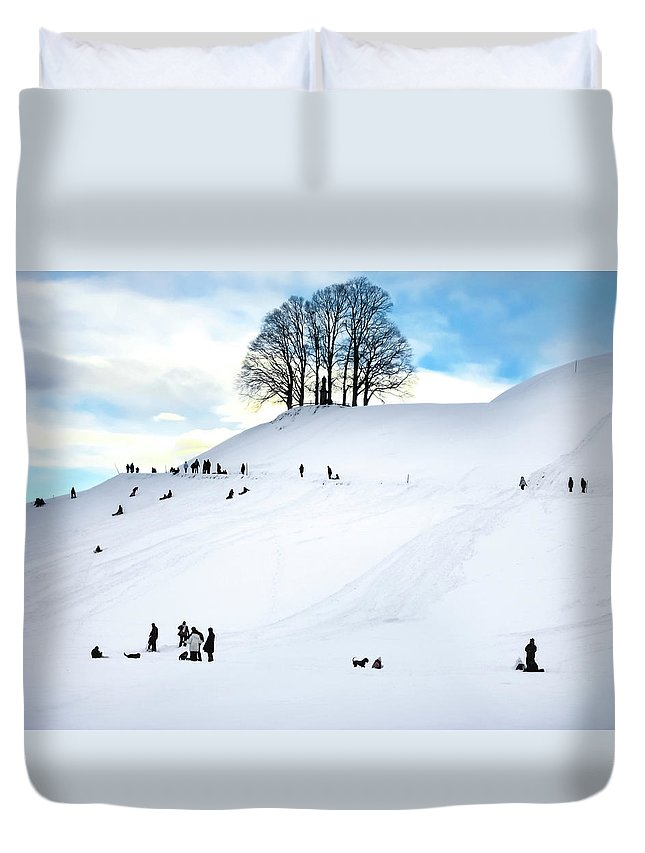 Snow Duvet Cover featuring the photograph Winter Fun by Crystal Alatorre