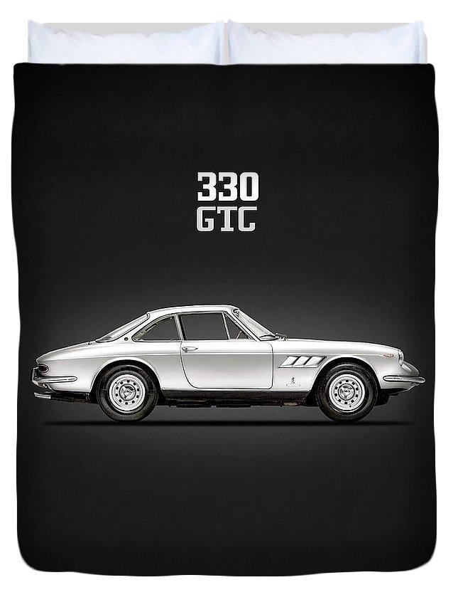 Ferrari 330 Duvet Cover featuring the photograph The Ferrari 330 Gtc by Mark Rogan