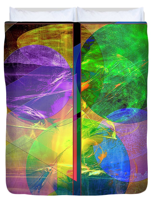 Progressive Intervention Duvet Cover featuring the digital art Progressive Intervention by John Beck