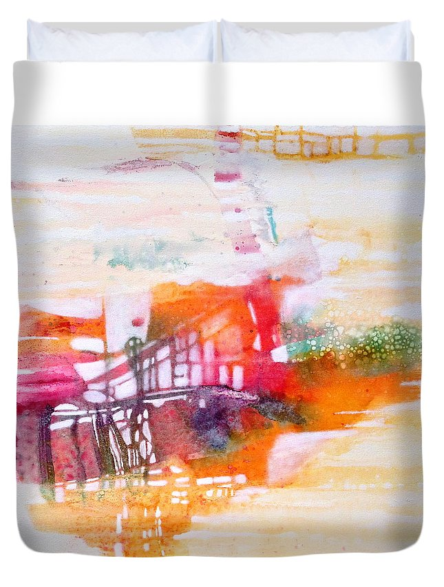 Mirage Duvet Cover featuring the painting Mirage by Caia Matheson