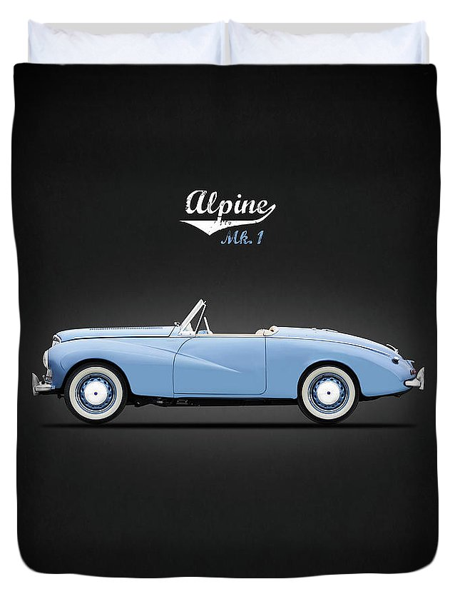 Sunbeam Alpine Sport 1953 Duvet Cover featuring the photograph Sunbeam Alpine Sport 1953 by Mark Rogan
