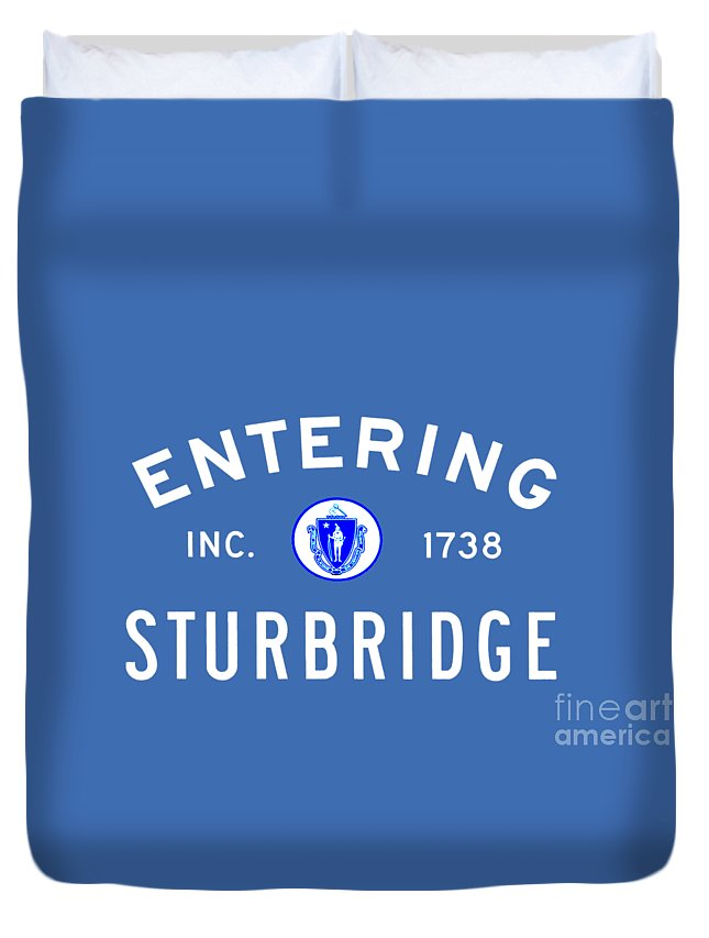 Sturbridge Duvet Cover featuring the photograph Entering Sturbridge by K Hines
