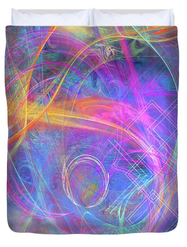 Mystic Beginning Duvet Cover featuring the digital art Mystic Beginning by John Beck