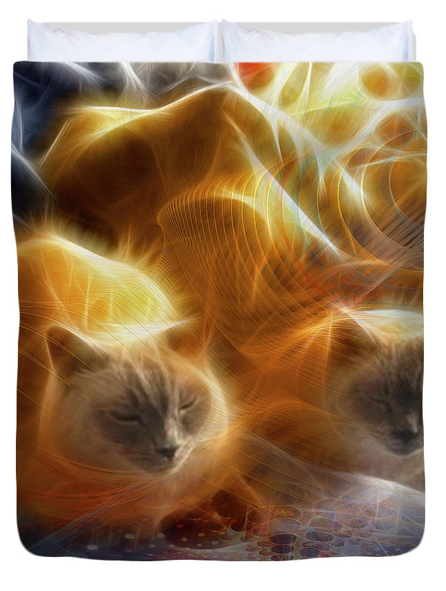 Cuddle Buddies Duvet Cover featuring the digital art Cuddle Buddies by John Beck