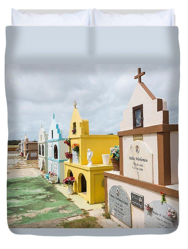 Aruba Duvet Cover featuring the photograph Aruba Cemetery by JG Thompson