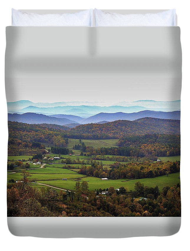 Mountains Duvet Cover featuring the photograph As Far As The Eyes Can See by Robert Mullen