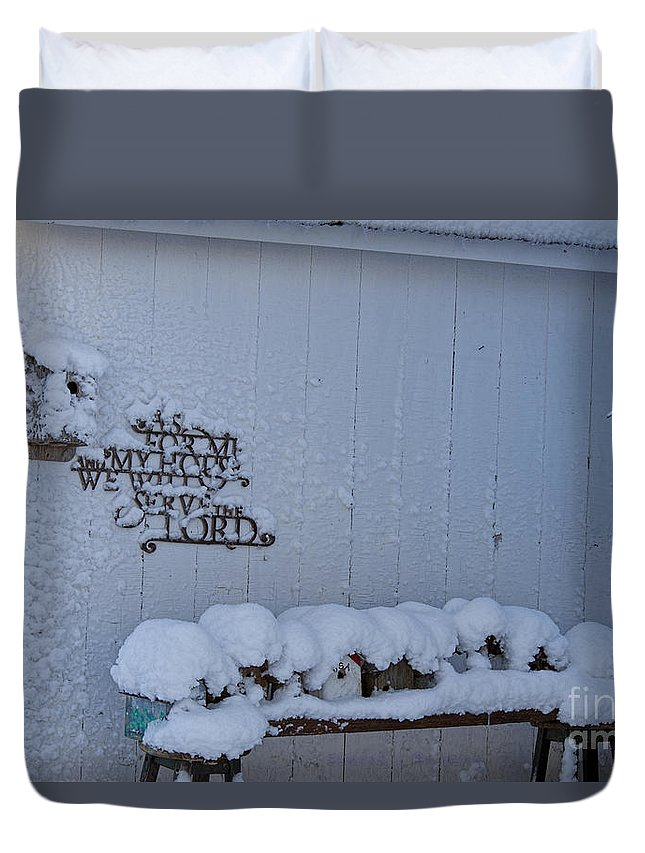 Winter Duvet Cover featuring the photograph As For Me And My House by David Arment