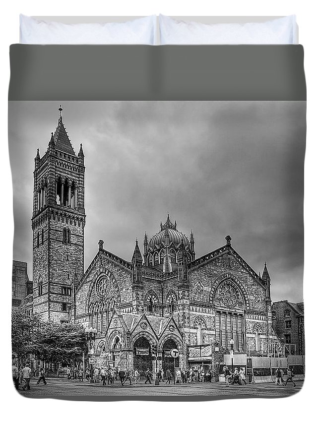 Boston Duvet Cover featuring the photograph As The World Passes By... by Evelina Kremsdorf
