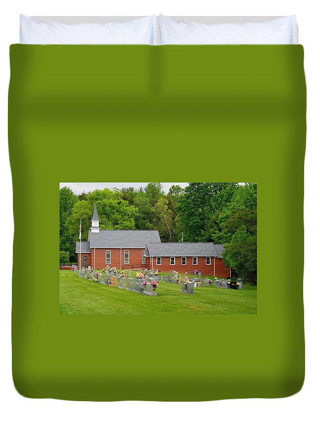 Church Duvet Cover featuring the photograph Asbury Church by Kathryn Meyer