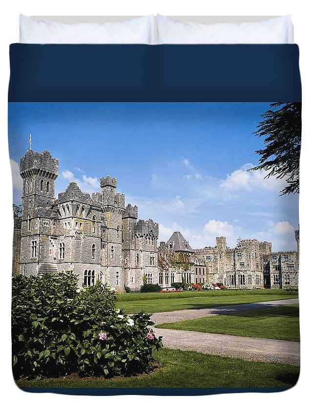Day Duvet Cover featuring the photograph Ashford Castle, County Mayo, Ireland by The Irish Image Collection