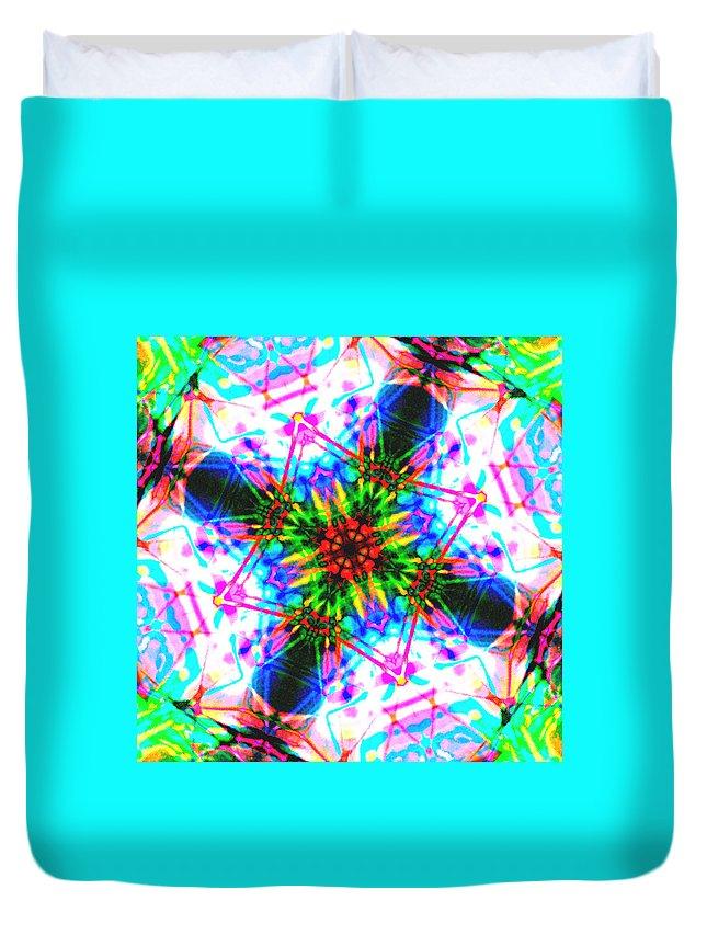 Abstract Duvet Cover featuring the digital art Askari by Blind Ape Art