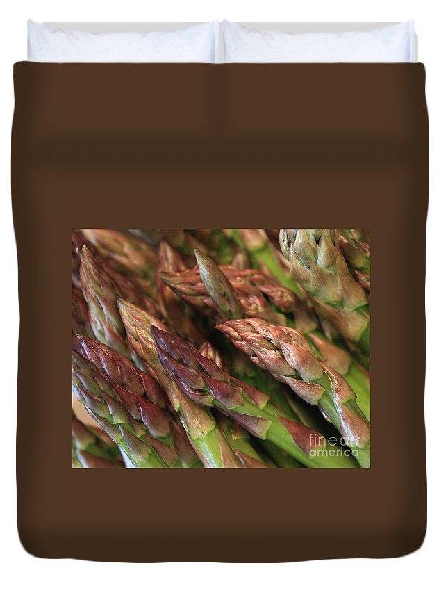 Asparagus Duvet Cover featuring the photograph Asparagus Tips by Carol Groenen