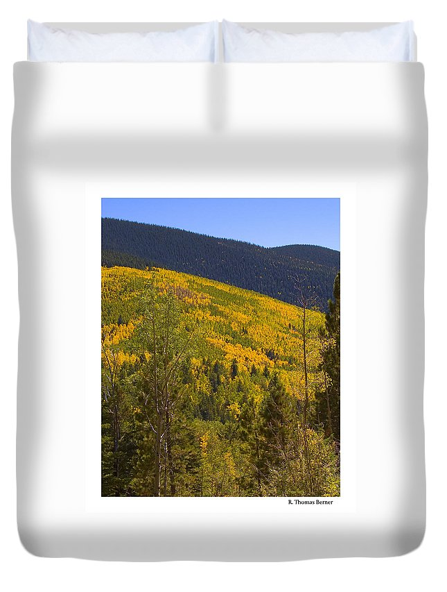 Duvet Cover featuring the photograph Aspen Vista by R Thomas Berner