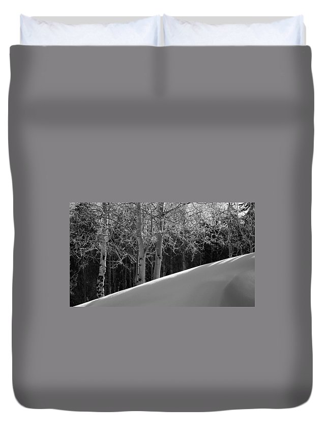 Colorado Duvet Cover featuring the photograph Aspencade by Skip Hunt