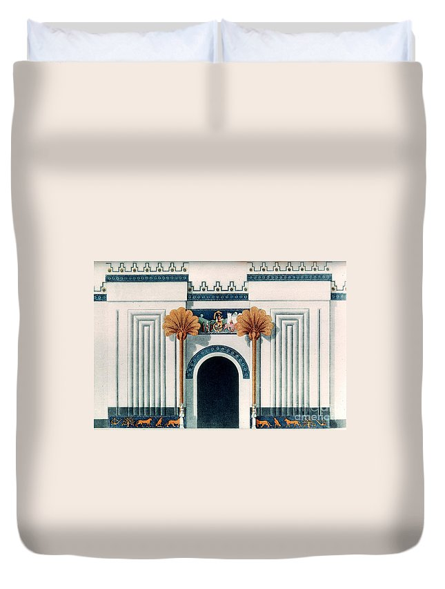 6th Century B.c. Duvet Cover featuring the photograph Assyrian Temple by Granger