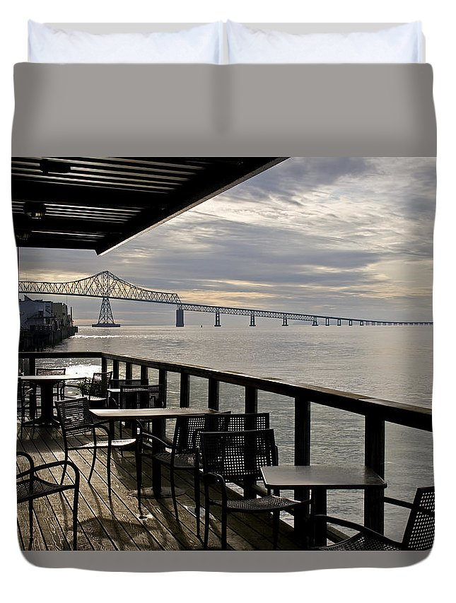 Scenic Duvet Cover featuring the photograph Astoria by Lee Santa