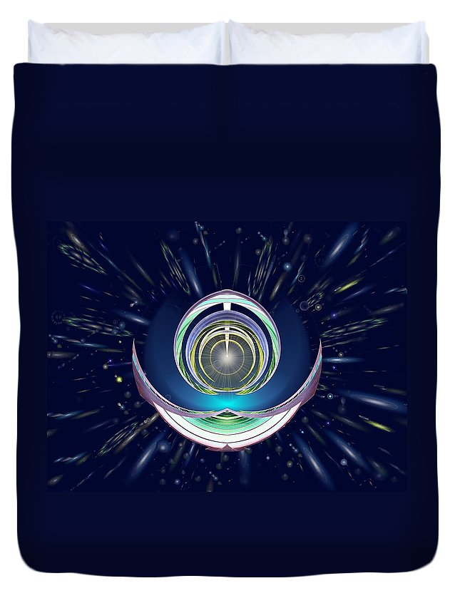 Abstract Duvet Cover featuring the digital art Astral Speedway by Tim Allen