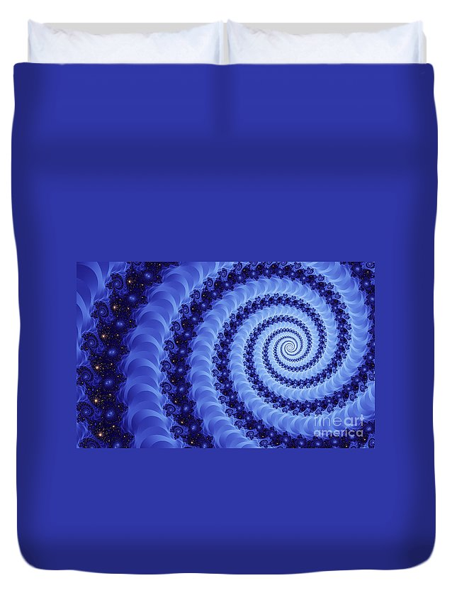 Clay Duvet Cover featuring the digital art Astral Vortex by Clayton Bruster