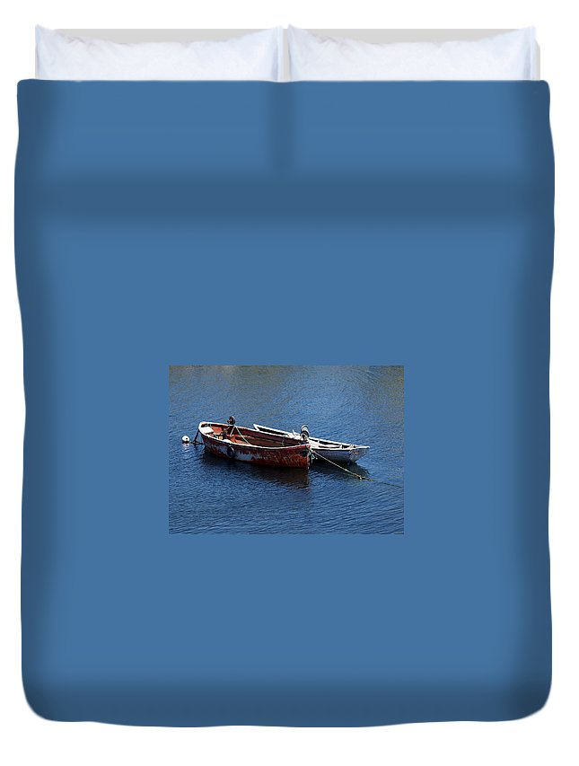 Boats Duvet Cover featuring the photograph At Rest by Kelvin Booker