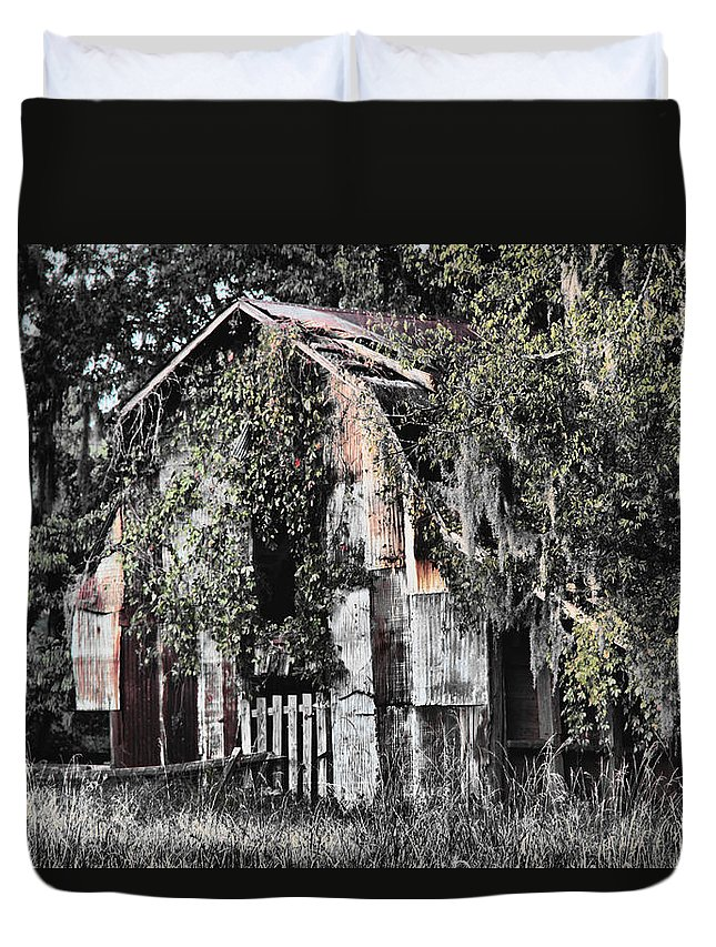Barn Duvet Cover featuring the photograph At The Barn by Greg Sharpe