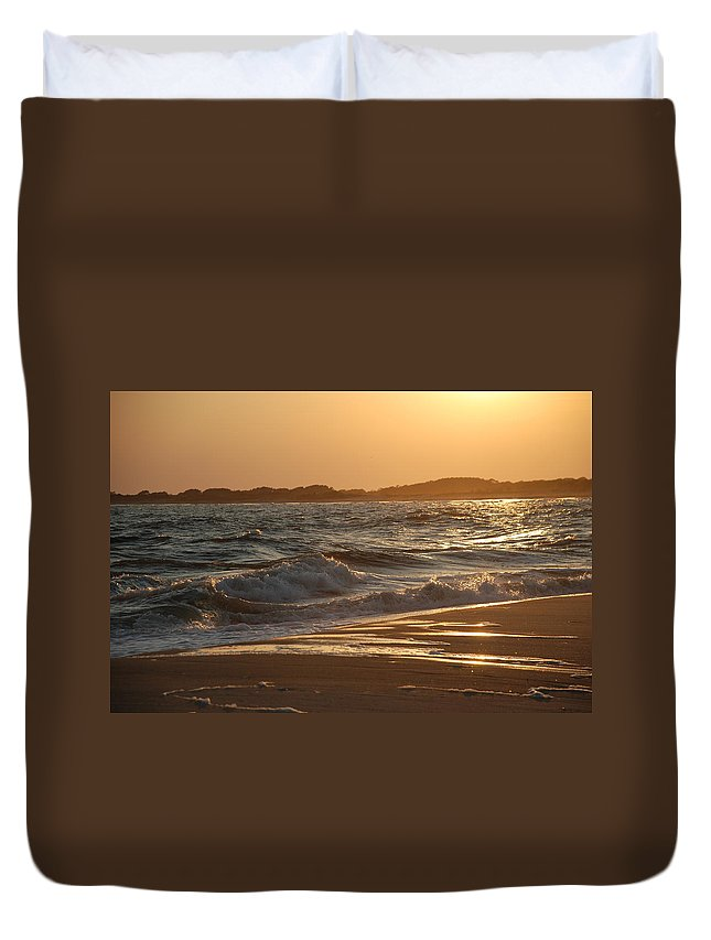 Cape May Duvet Cover featuring the photograph At The Golden Hour by Richard Bryce and Family