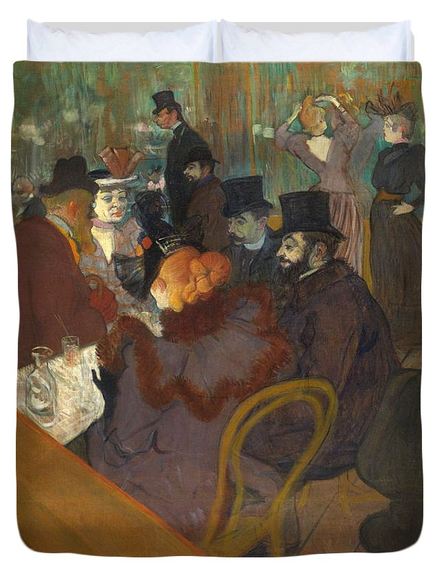 Alcohol Duvet Cover featuring the painting At The Moulin Rouge 1892 95 by Henri De Toulouse Lautrec