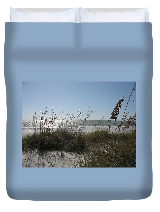 Sea Duvet Cover featuring the photograph At The Seaside by Christiane Schulze Art And Photography