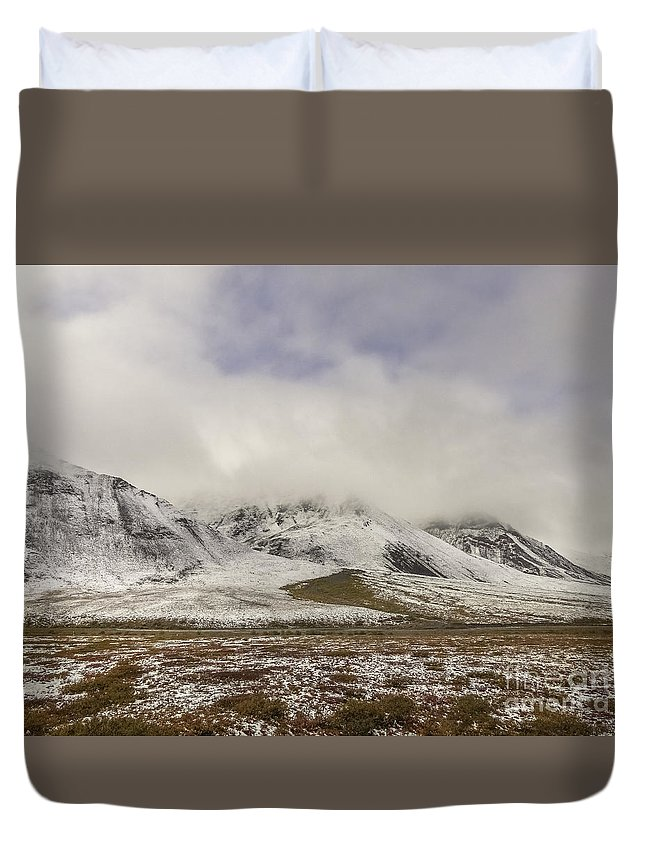 Atigun Pass Duvet Cover featuring the photograph Atigun Pass Brooks Range Alaska by Teresa A and Preston S Cole Photography