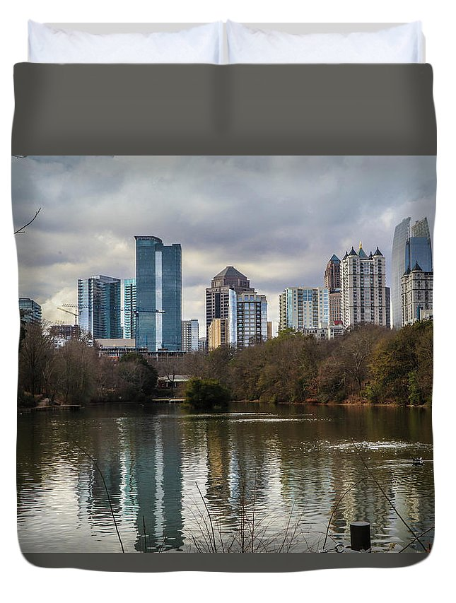 Duvet Cover featuring the photograph ATL by Eli Harris