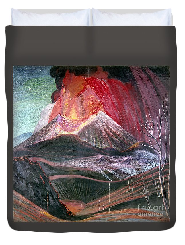 20th Century Duvet Cover featuring the photograph Atl: Volcano, 1943 by Granger