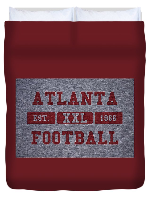 Falcons Duvet Cover featuring the photograph Atlanta Falcons Retro Shirt by Joe Hamilton