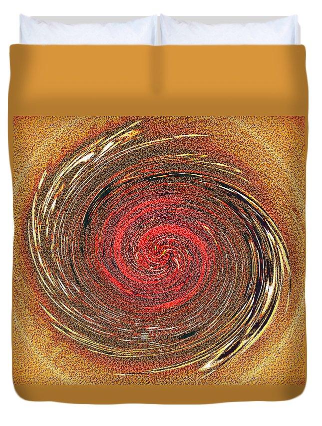 Abstract Duvet Cover featuring the digital art Atlantean Fire by Don Quackenbush