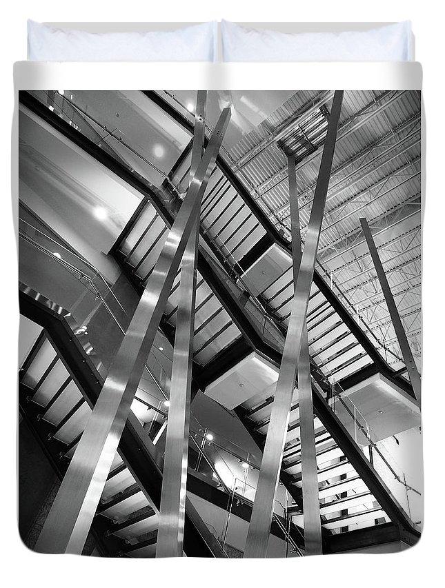 Atlantic Avenue Arts Block Building Duvet Cover featuring the photograph Atlantic Avenue Arts Block Building by David Pantuso