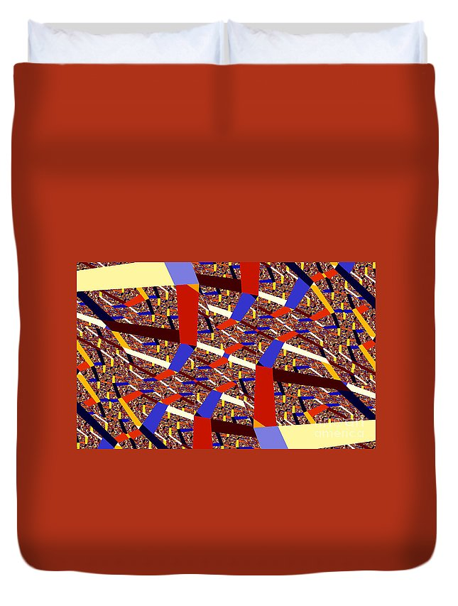 Clay Duvet Cover featuring the digital art Atomic Link by Clayton Bruster