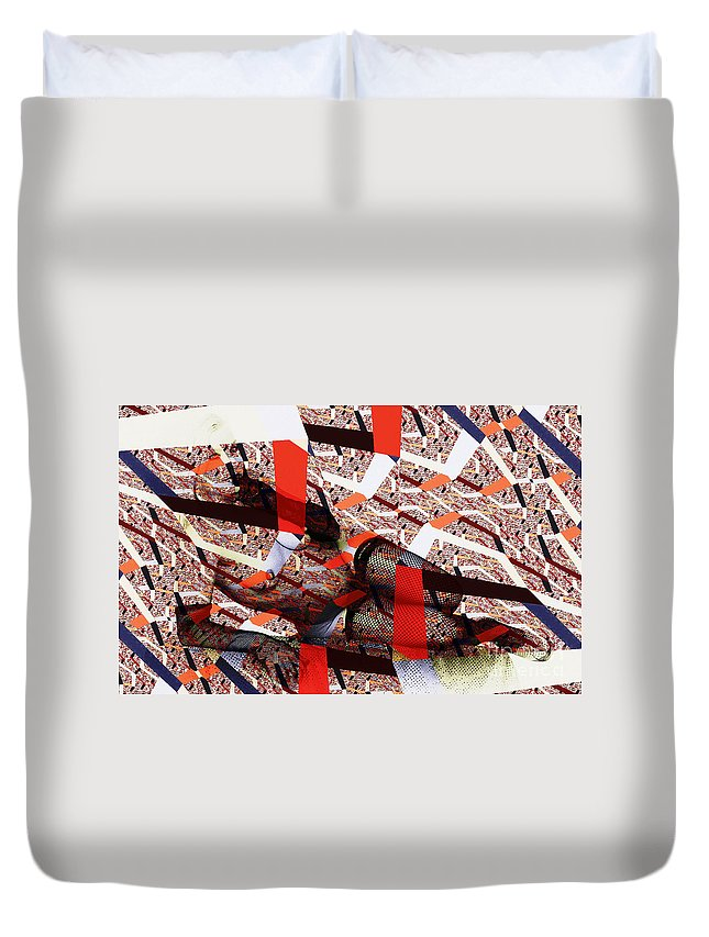 Clay Duvet Cover featuring the photograph Atomic Link Pinup by Clayton Bruster