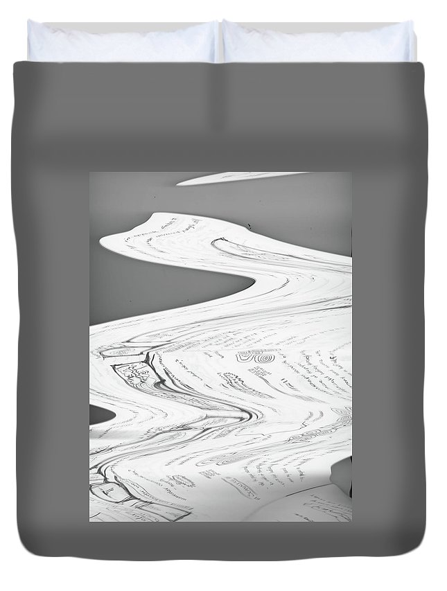 Xerox Duvet Cover featuring the mixed media Attention by Malachai Marzolf
