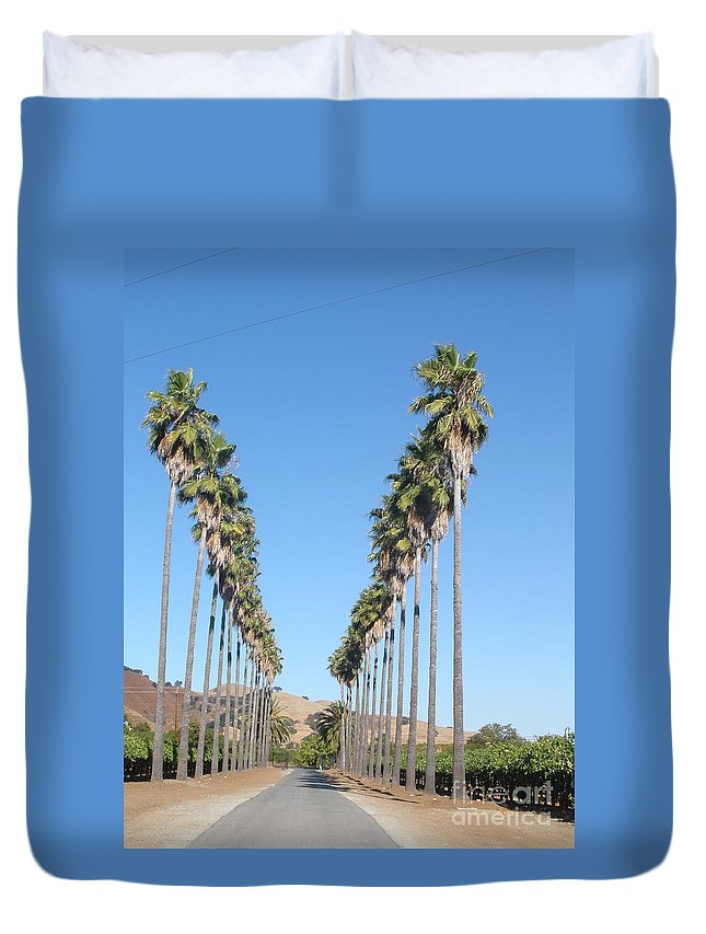 Palm Trees Duvet Cover featuring the photograph Attention To Details by Jeanie Watson