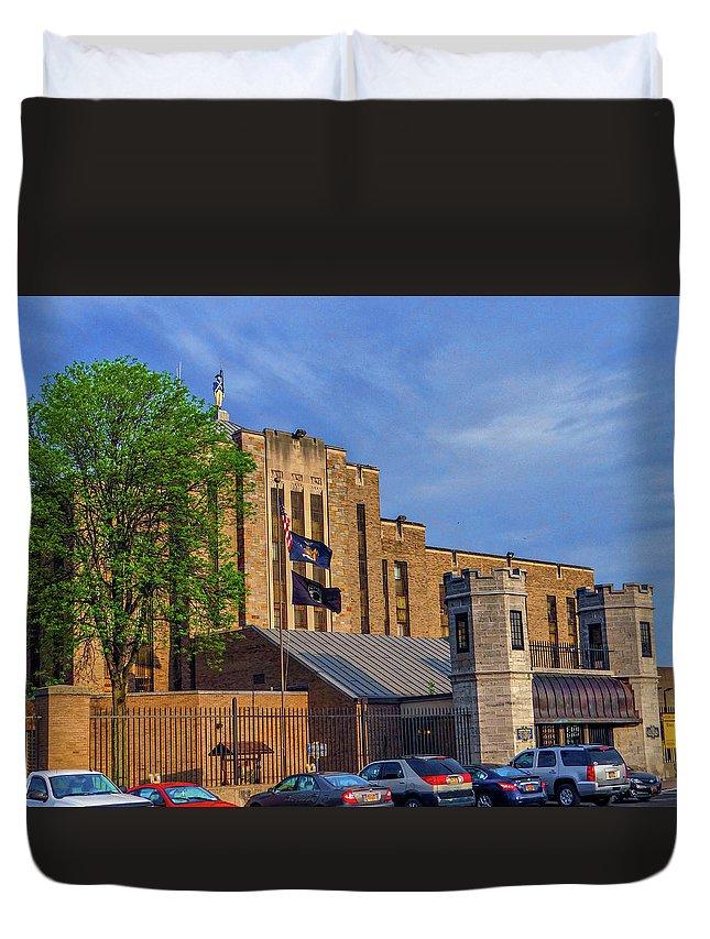 Auburn State Prison Duvet Cover featuring the photograph Auburn State Prison by Dennis Dugan