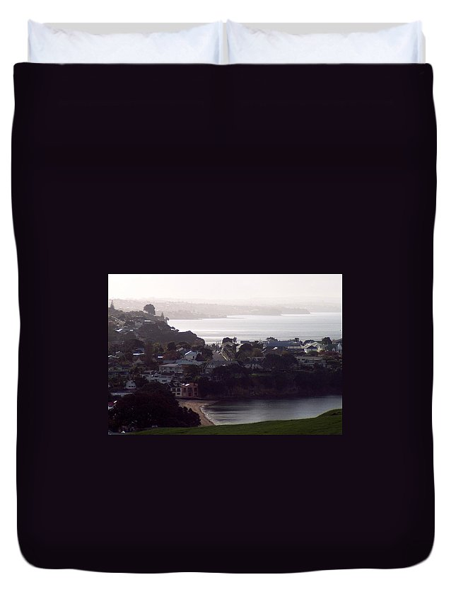 New Zealand Duvet Cover featuring the photograph New Zealand - Secluded Cheltenham Beach by Jeffrey Shaw