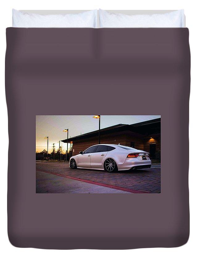 Audi A8 Duvet Cover featuring the digital art Audi A8 by Bert Mailer