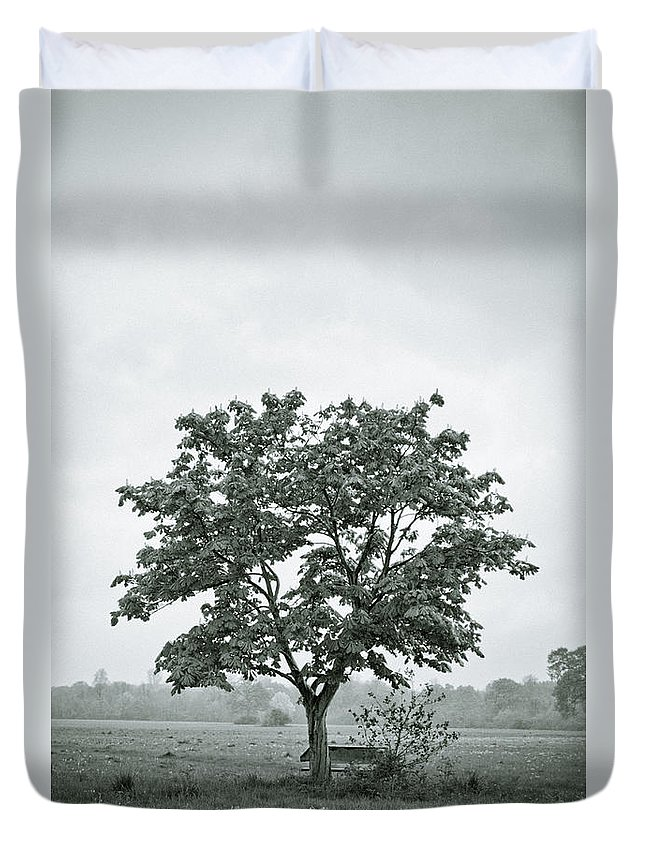 Tree Duvet Cover featuring the photograph August In England by Andy Smy
