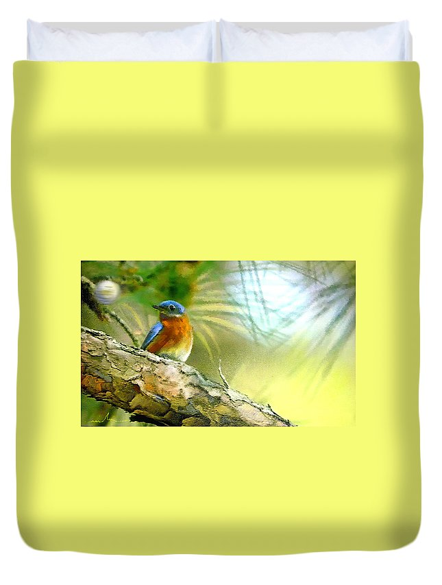 Golf Duvet Cover featuring the painting Augusta Masters 2010 05 by Miki De Goodaboom